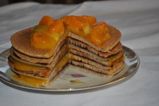Buchweizenpfannkuchen-Torte