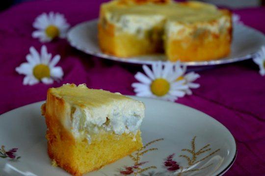 Der Rhabarber-Schmand-Kuchen ist super einfach gemacht, ist fluffig, cremig und sogar glutenfrei! Und das nur indem das normale Mehl durch Maismehl ausgetauscht wurde!