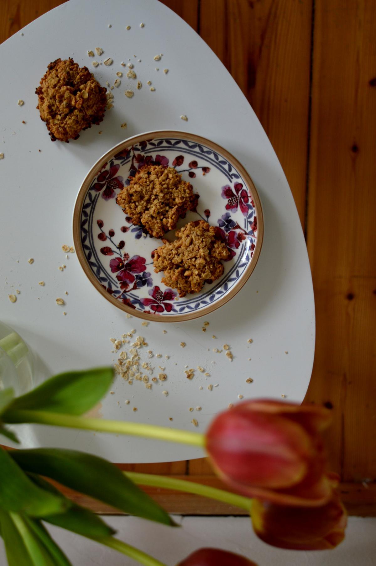 Einfache Kekse mit Haferflocken