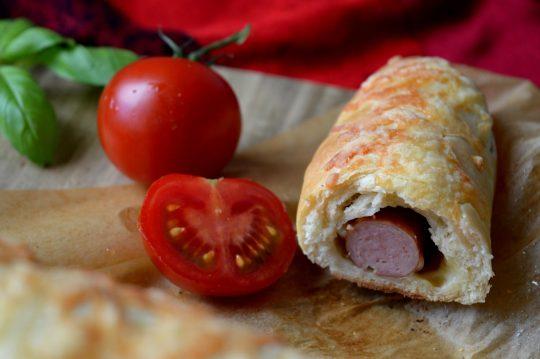 Hotdog-Brötchen gebacken im Ofen