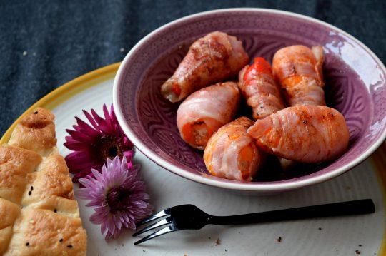 Gefüllte Paprika mit Bacon und Frischkäse