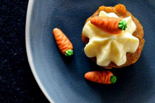 Karottencupcakes mit Frischkäsetopping