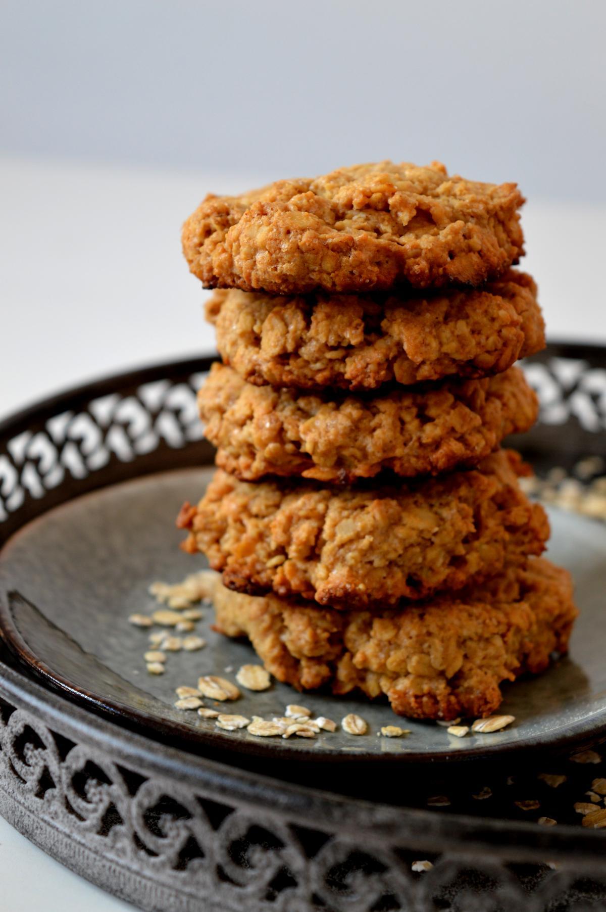 Kekse mit Haferflocken und Erdnussbutter
