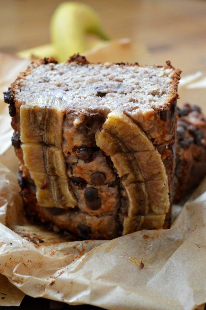 Rezept schnelles Bananabread mit Walnüssen und gemahlenen Nüssen