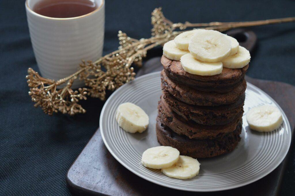 Schnelle Schokoladenpancakes