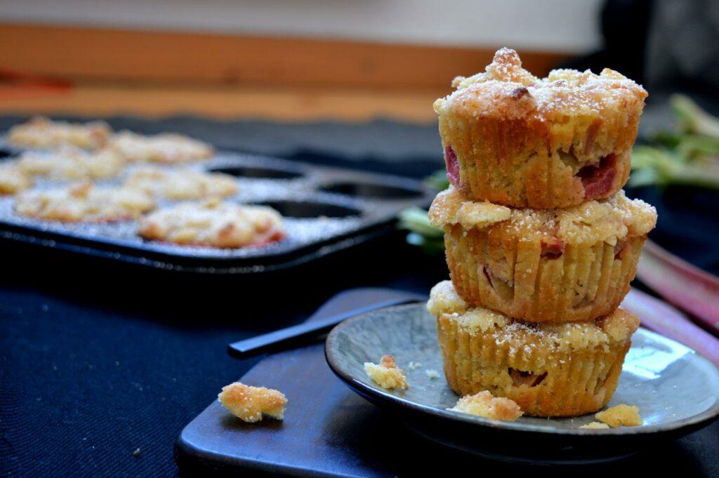 Rhabarber-Steusel-Muffins